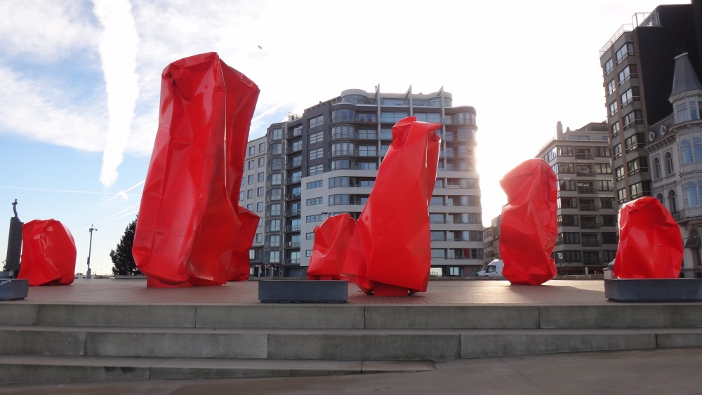 Oostende, les boîtes rouges de Arne Quinze