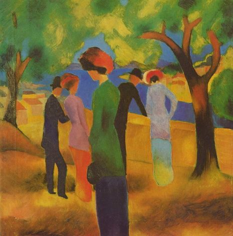 « August Macke 005 » par August Macke — s - https://commons.wikimedia.org/wiki/File:August_Macke_005.jpg#/media/File:August_Macke_005.jpg